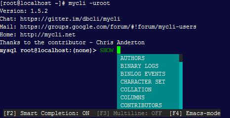 MySQL客户端之Mycli使用配置