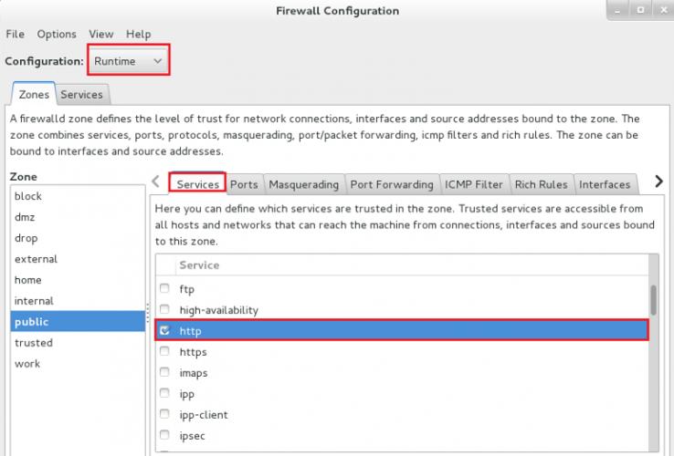 CentOS7:firewall防火墙使用