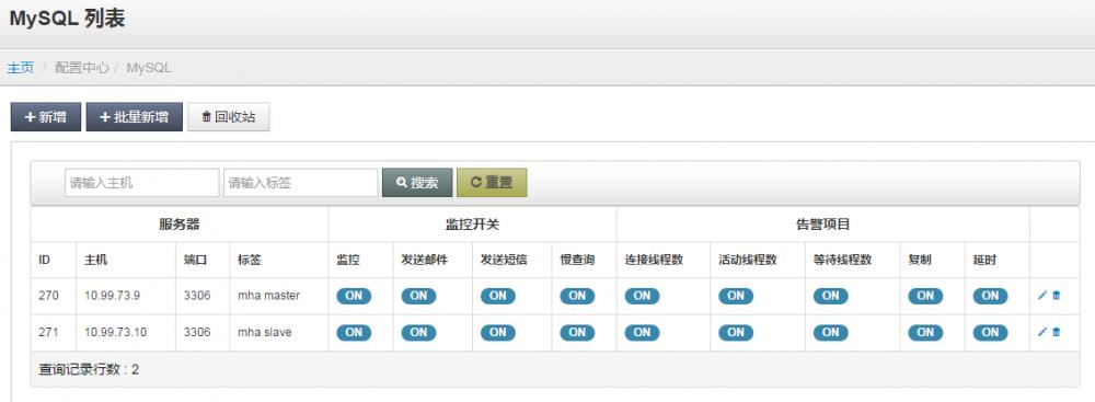 天兔(Lepus 3.8)数据库监控系统部署